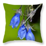 Blue Bells Are Ringing Throw Pillow
