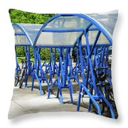 Blue Bicycle Berth Throw Pillow