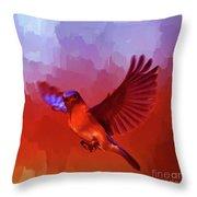 Blue Bird 01  Throw Pillow