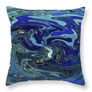 Blue Bird Abstract Throw Pillow