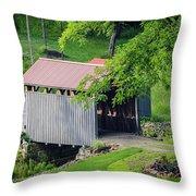 Blue Bird Farm Throw Pillow