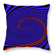 Blue Black And Red Twirl Abstract Throw Pillow