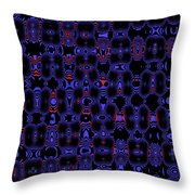 Blue Black Red Warp Abstract Throw Pillow