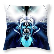 Blue Blazes Throw Pillow
