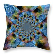 Blue Bling Throw Pillow