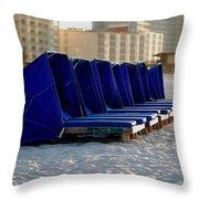 Blue Blocker Throw Pillow
