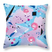 Blue Blue Abstract Throw Pillow