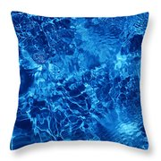 Blue Blue Water Throw Pillow