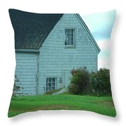 Blue Boathouse Throw Pillow