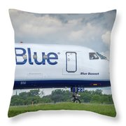 Blue Bonnet Throw Pillow
