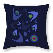 Blue Boomerangs Throw Pillow