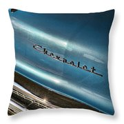 Blue Bowtie Throw Pillow