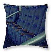Blue Box Seats Throw Pillow