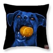 Blue Boxer Mix Dog Art - 8173 - Bb Throw Pillow