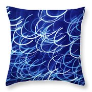Blue Breasts Throw Pillow