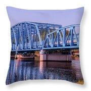 Blue Bridge Georgia Florida Line Throw Pillow