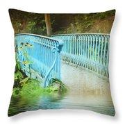 Blue Bridge Throw Pillow