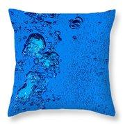 Blue Bubbles 2 Throw Pillow