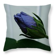 Blue Bud Throw Pillow