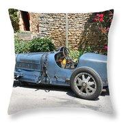 Blue Bugatti Oldtimer Throw Pillow