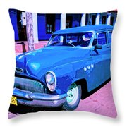 Blue Buick Throw Pillow