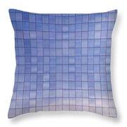 Blue Building Facade Throw Pillow by Yali Shi