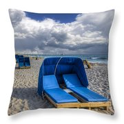 Blue Cabana Throw Pillow