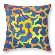 Blue Canvas #1 Throw Pillow