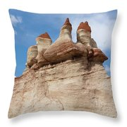 Blue Canyon Minarets Throw Pillow