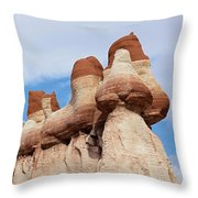 Blue Canyon Wall Throw Pillow
