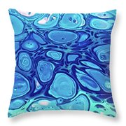 Blue Cells Throw Pillow