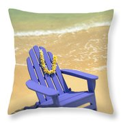 Blue Chair Throw Pillow