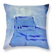 Blue Chair Throw Pillow