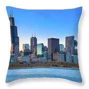 Blue Chicago Throw Pillow
