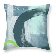 Blue Circles 2- Art By Linda Woods Throw Pillow