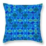 Blue Circles Abstract Art By Sharon Cummings Throw Pillow