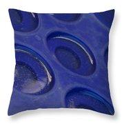 Blue Circles Throw Pillow