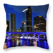 Blue City Throw Pillow