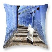 Blue City Kid Throw Pillow