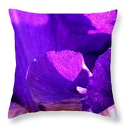 Blue Close Up Throw Pillow