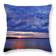 Blue Clouds Throw Pillow