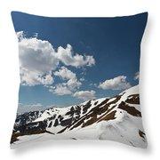 Blue Cloudy Sky Over Spring Tatra Mountains, Poland, Europe Throw Pillow