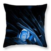 Blue Clownfish Big Size 15x11 - Beach House Art Throw Pillow