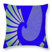 Blue Colored Metal Panel Tempe Center For The Arts Abstract Throw Pillow