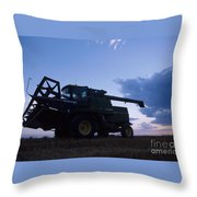 Blue Combine Throw Pillow