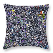 Blue Complex  Throw Pillow