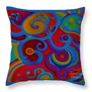 Blue Corn Flower Throw Pillow