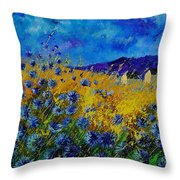 Blue Cornflowers Throw Pillow