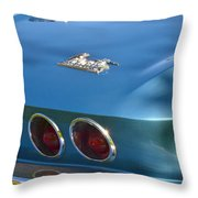 Blue Corvette Stingray Throw Pillow