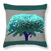 Blue Crown Throw Pillow